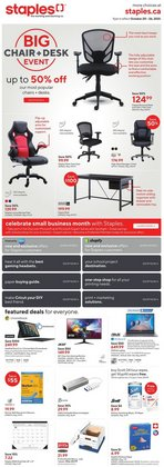 Electronics deals in the Staples catalogue ( Expires tomorrow)