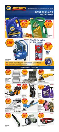 Automotive offers in the NAPA Auto Parts catalogue in Montreal