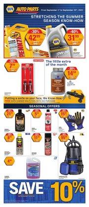 Automotive deals in the NAPA Auto Parts catalogue ( 11 days left)