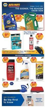 Automotive deals in the NAPA Auto Parts catalogue ( 12 days left)