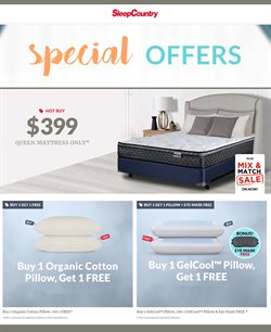 Sleep Country deals in the Vancouver flyer