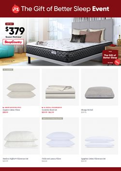 Home & furniture offers in the Sleep Country catalogue in Toronto
