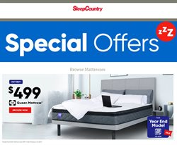 Sleep Country deals in the Toronto flyer