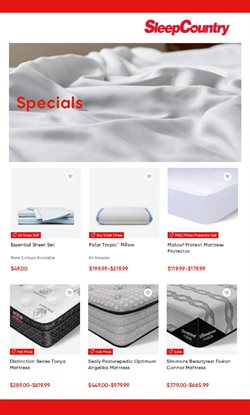 Home & Furniture offers in the Sleep Country catalogue ( 13 days left )