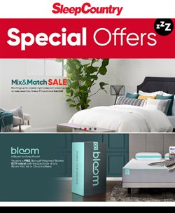Home & Furniture offers in the Sleep Country catalogue ( 7 days left )