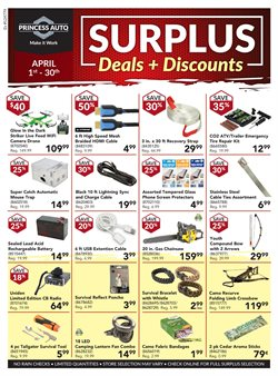 Princess Auto deals in the Markham flyer