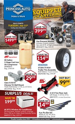 Princess Auto deals in the Toronto flyer