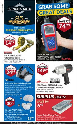 Princess Auto deals in the Vancouver flyer