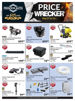 Cars, motorcycles & spares offers in the Princess Auto catalogue in Sarnia
