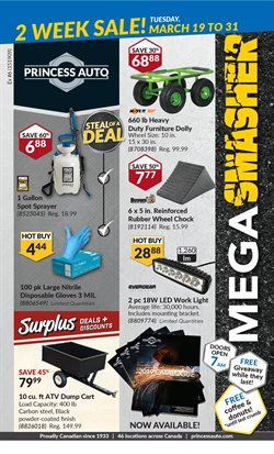 Cars, motorcycles & spares offers in the Princess Auto catalogue in Prince George