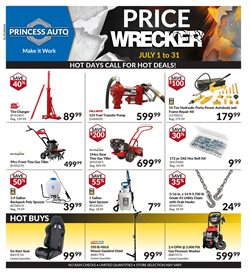 Princess Auto deals in the Calgary flyer