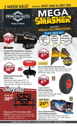 Automotive offers in the Princess Auto catalogue in Vancouver