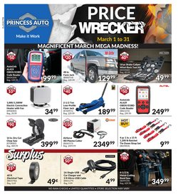 Automotive offers in the Princess Auto catalogue ( 3 days left )
