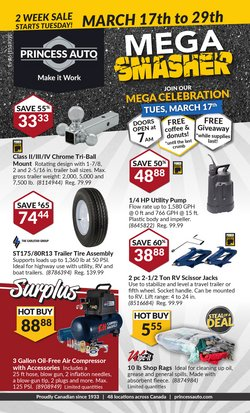 Automotive offers in the Princess Auto catalogue ( Expires tomorrow )