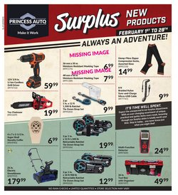Automotive offers in the Princess Auto catalogue in Toronto ( 3 days left )