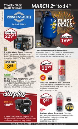 Sales deals in the Princess Auto catalogue ( 7 days left)