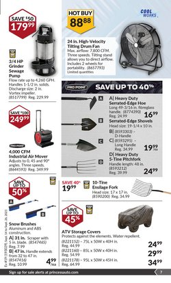 HP deals in the Princess Auto catalogue ( 7 days left)