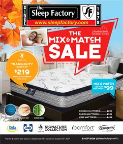 The Sleep Factory deals in the Bolton flyer