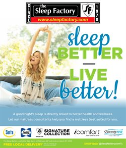 The Sleep Factory deals in the Oshawa flyer