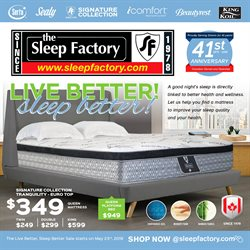 The Sleep Factory deals in the Guelph flyer