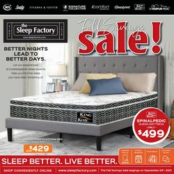 The Sleep Factory deals in the The Sleep Factory catalogue ( 7 days left)