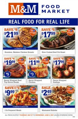 M&M Meat Shops deals in the M&M Meat Shops catalogue ( Expired)