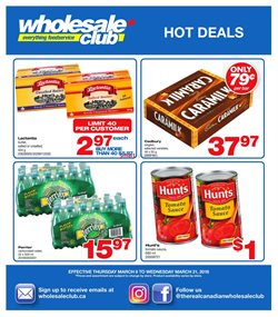 Wholesale Club deals in the Victoria BC flyer