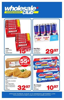Wholesale Club deals in the Winnipeg flyer