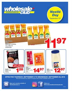 Wholesale Club deals in the Ottawa flyer
