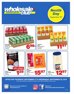 Wholesale Club deals in the St. John's flyer