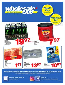 Wholesale Club deals in the Hamilton flyer