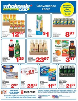 Wholesale Club deals in the Vancouver flyer