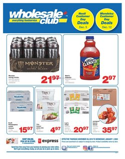 Wholesale Club deals in the Calgary flyer