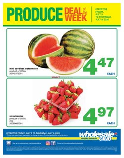 Wholesale Club catalogue ( Published today )