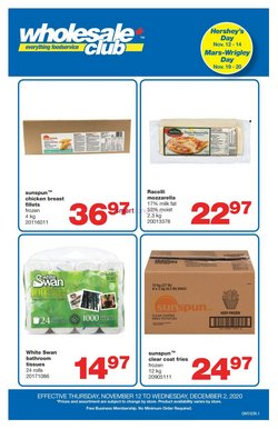 Sales deals in the Wholesale Club catalogue ( 6 days left)