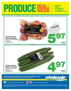 Grocery offers in the Wholesale Club catalogue in Victoria BC ( Expires tomorrow )