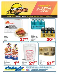 Wholesale Club deals in the Wholesale Club catalogue ( 14 days left)