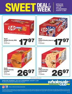 Grocery deals in the Wholesale Club catalogue ( Expires tomorrow)