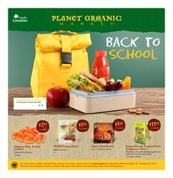 Back to school offers in the Planet Organic Market catalogue in Toronto