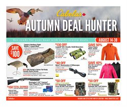 Cabela's deals in the Edmonton flyer