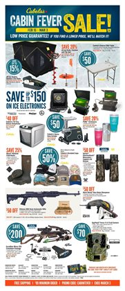 Sport offers in the Cabela's catalogue in Winnipeg