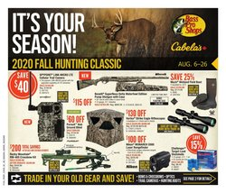 Sport offers in the Cabela's catalogue in Edmonton ( 11 days left )