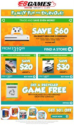 EB Games deals in the Calgary flyer