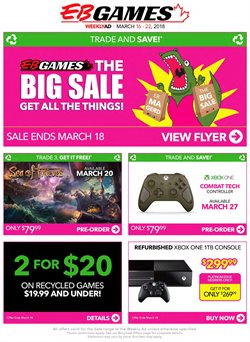 EB Games deals in the Vancouver flyer