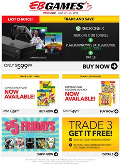 Electronics & Appliances offers in the EB Games catalogue in Bolton