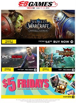 EB Games deals in the Toronto flyer