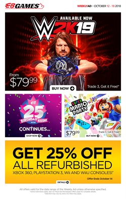 Electronics & Appliances offers in the EB Games catalogue in Toronto