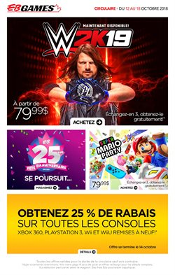Electronics & Appliances offers in the EB Games catalogue in Gatineau