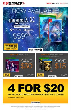 Electronics & Appliances offers in the EB Games catalogue in Chatham-Kent