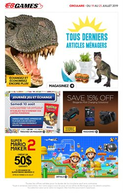 Electronics offers in the EB Games catalogue in Saint-Hyacinthe